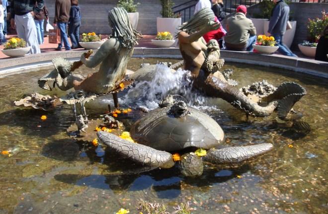 Mermaid Sculptures in Ghirardelli Square