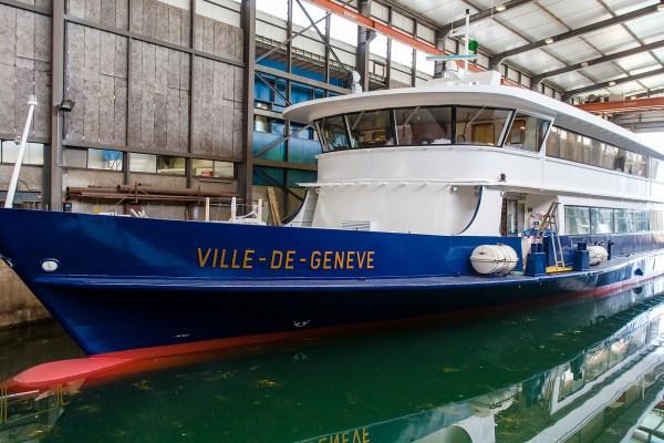 """Livraison des superstructures du """"Ville de Genève"""""""