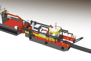 Un nouvel ensemble de drague aspiratrice et navire multifonction
