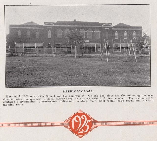 Bradleyean Year 1925 book Merrimack Hall