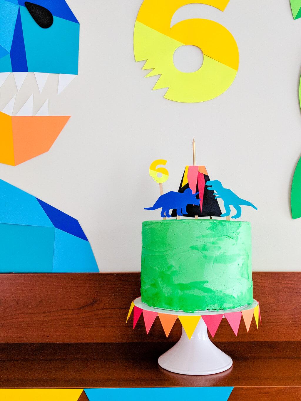 Dinosaur Birthday Party Geometric Dinosaur Party Decor