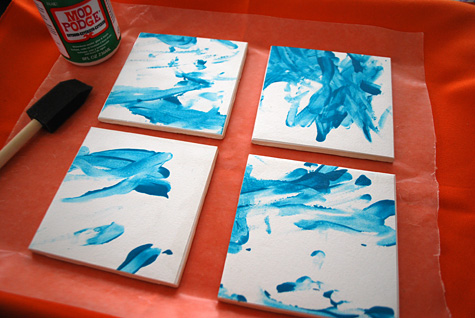 make modern diy tile coasters with