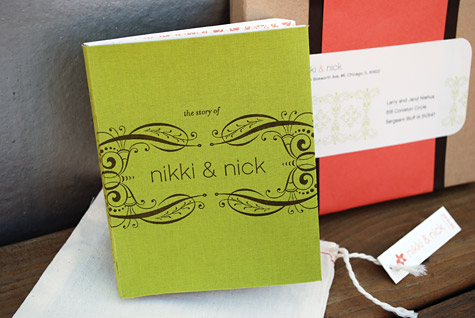 Description Hand Bound Booklet Style Wedding Invitation With Included