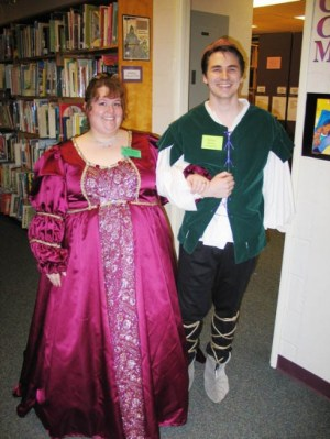 a photo from a library mystery party game