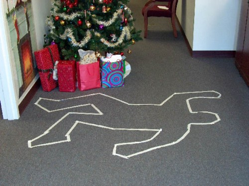 Beverly's decorations from her murder party