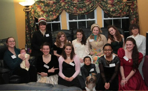 A group photo at Donna's girl party