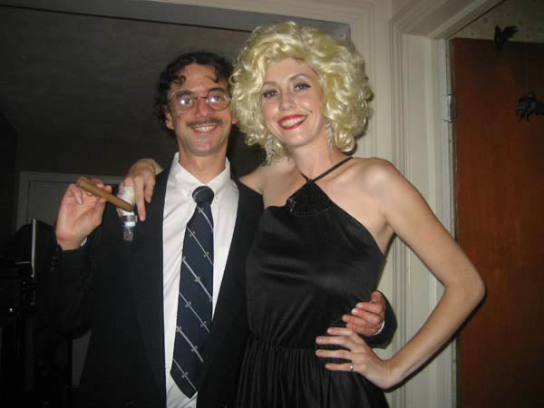 A photo of Groucho and Marilyn at Danielle's halloween party