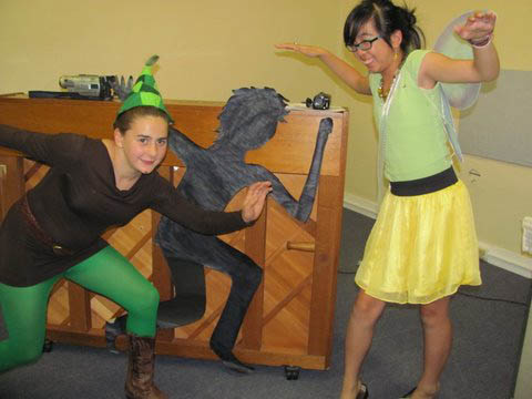 Peter Pan and Tinkerbell from Tina's party
