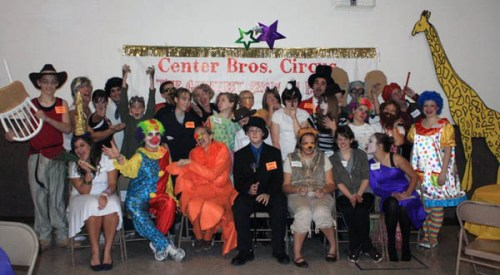 A group photo from Tina's mystery party