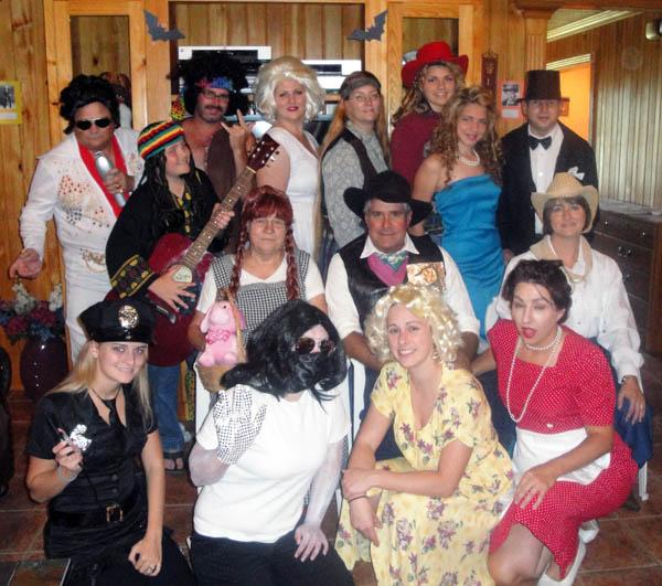 A group photo from Sandra's Celebrity Celebrations party