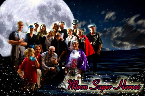 A photo of the Moon Superhero party