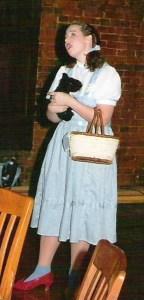 Judy Garland at Halloween party