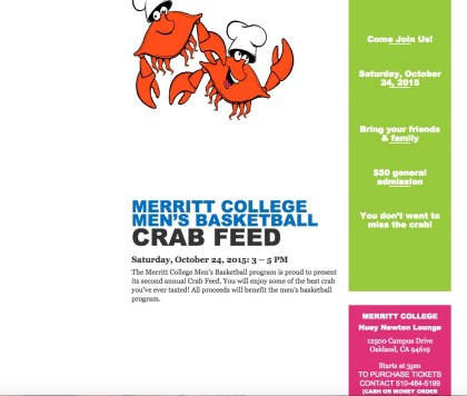Crab feed flyer oct. 24