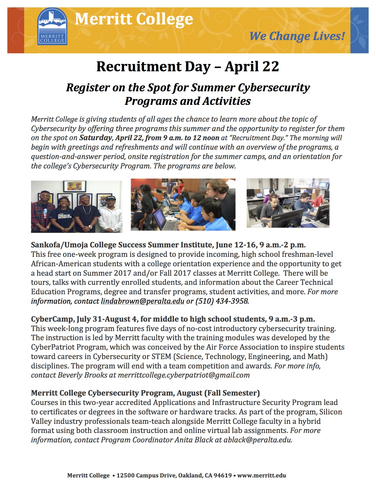 Recruitment Day On April 22 In P 307 Offers Chance To Sign Up For