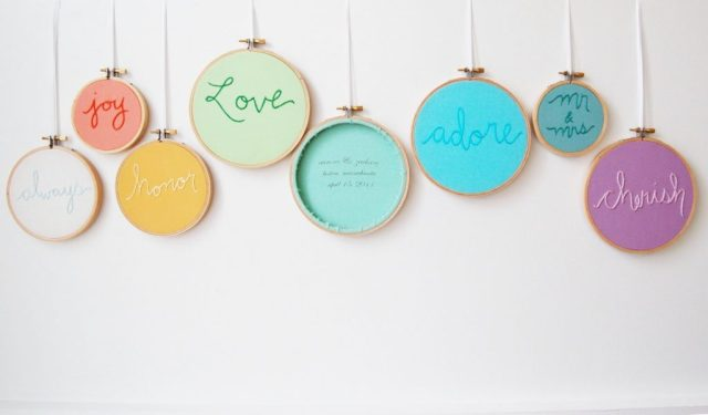 embroidery hoops for wedding