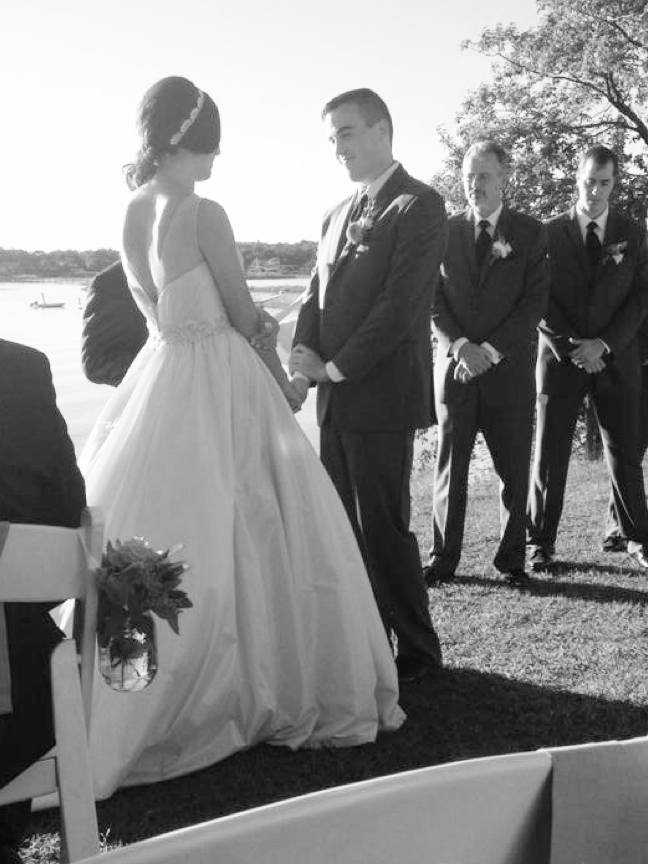 My Modified Illusion Neckline Ball Gown Wedding Dress | The Merriweather Council Blog