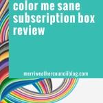 Color Me Sane Box