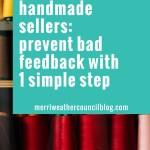 1 Simple Step to Avoiding Bad Feedback on Etsy or Other Marketplace