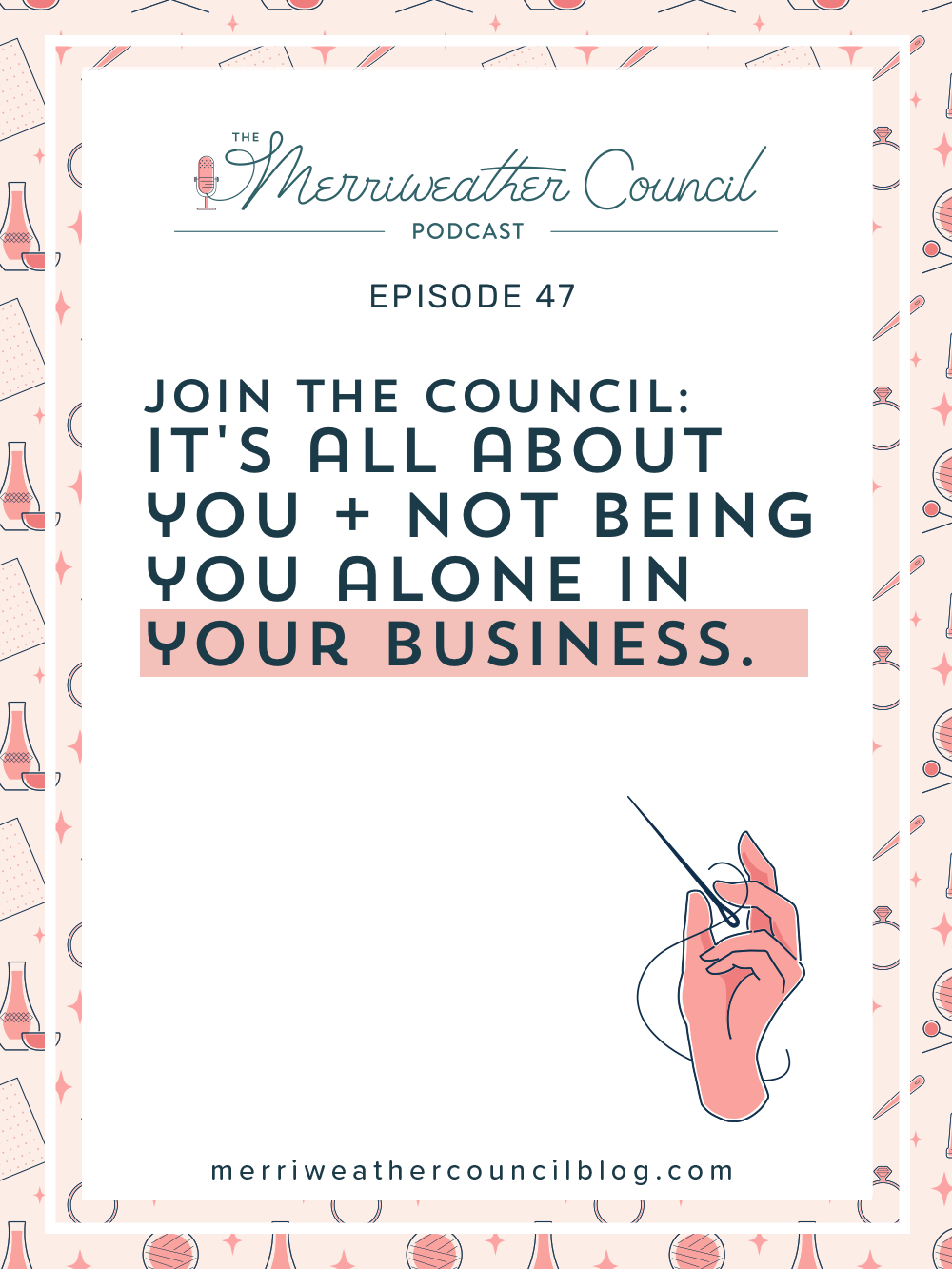 You are most likely a one-person show. Your business is relying on you. As a soloprenuer, it all comes down to you. But YOU don't have to be you alone in your business. Let me explain what that means in this episode. | The Merriweather Council