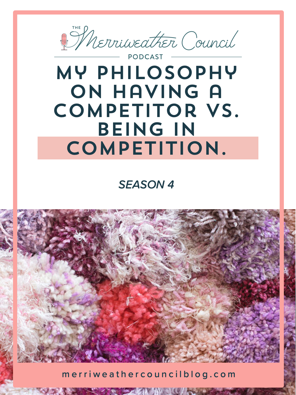 In this episode I let you in on my stance on the difference between competition versus competitors. I hope this helps expand your perspective a little! | The Merriweather Council Podcast
