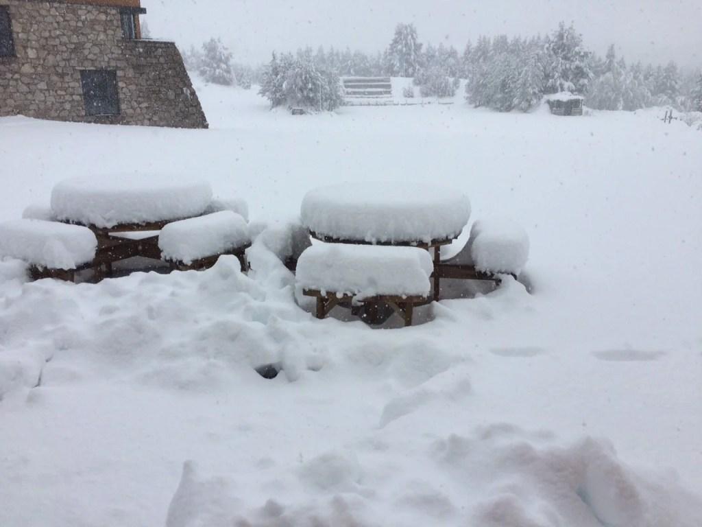 Deep snow at Glenmore Lodge