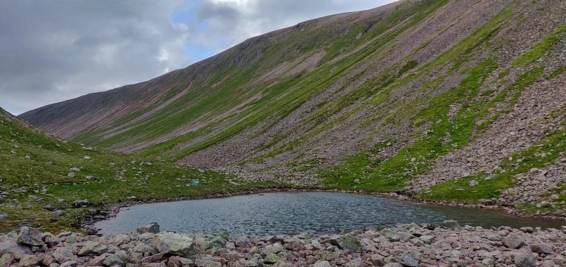 Pool of Dee in Lairig Ghru pass