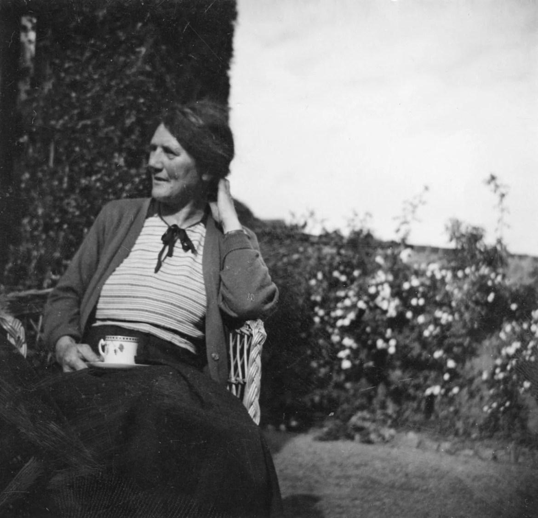 Nan Shepherd in her garden