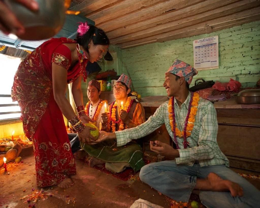 Bhai Tika ceremony in Kathmandu by Rowan Butler