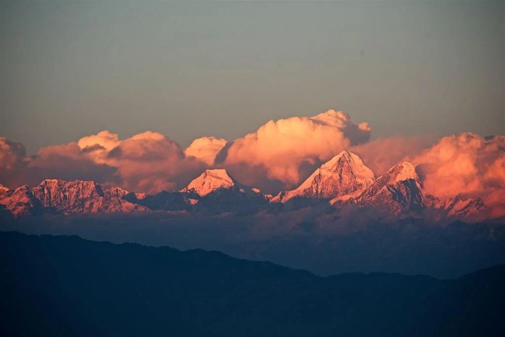 Himals from Kathmandu by Rowan Butler