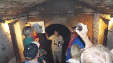 Inside the Barrow with guide Pat Kirby