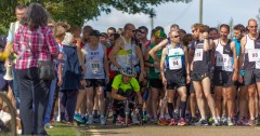 The Starting Line – Mersea Lions 5 & 10 Mile Races 2014 – Photo by Leigh Brooksbank