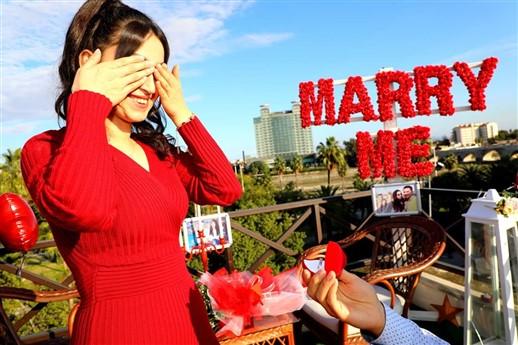 mersin sürpriz evlilik teklifi
