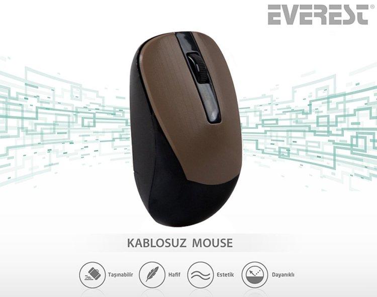 Everest SM-834 1600 DPI Usb Optik Kablosuz Mouse