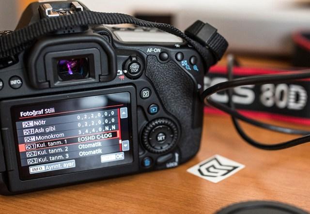 Canon 80D'ye CLOG Nasıl Eklenir