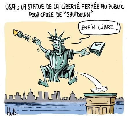Statue après le shutdown