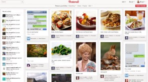 Pinterest Home Page