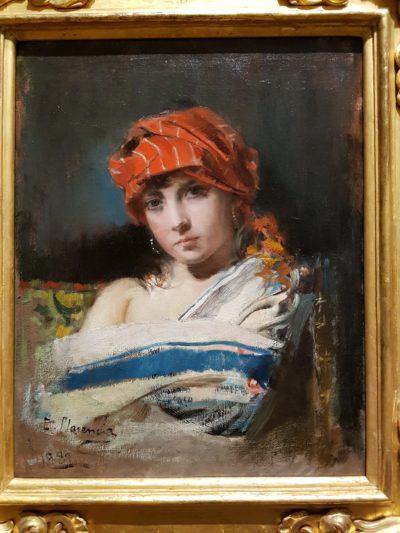La joven del pañuelo rojo