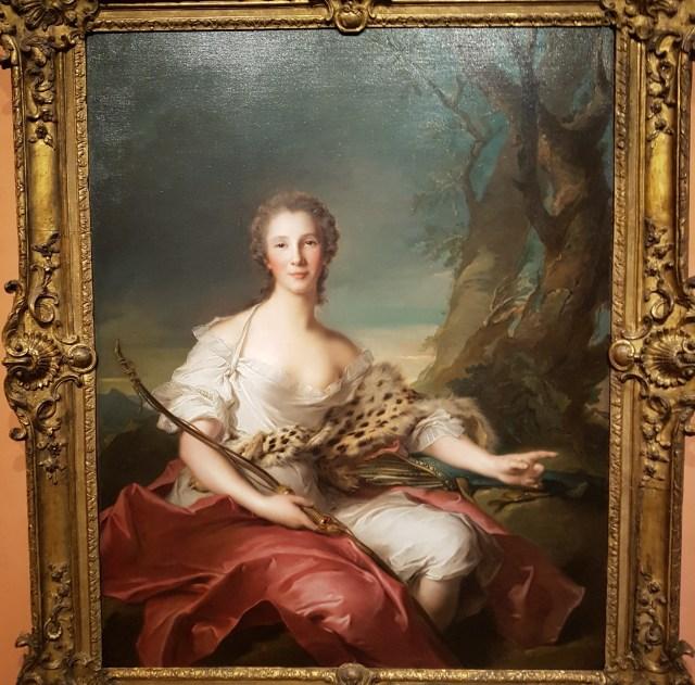 Madame Bouret como Diana, retratada por Jean Marc Nattier https://www.museothyssen.org/coleccion/artistas/nattier-jean-marc/retrato-madame-bouret-como-diana