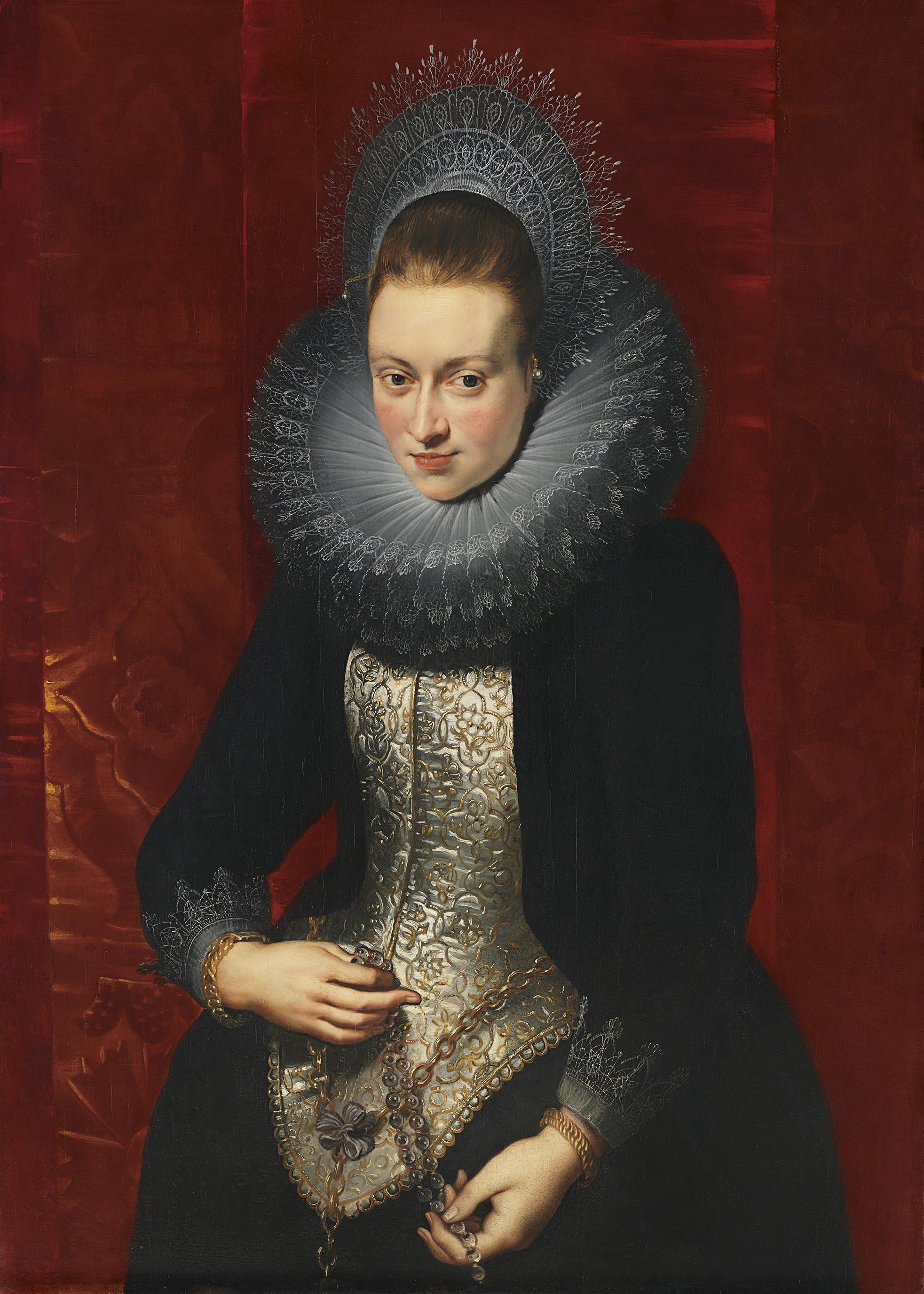 Dama joven con rosario