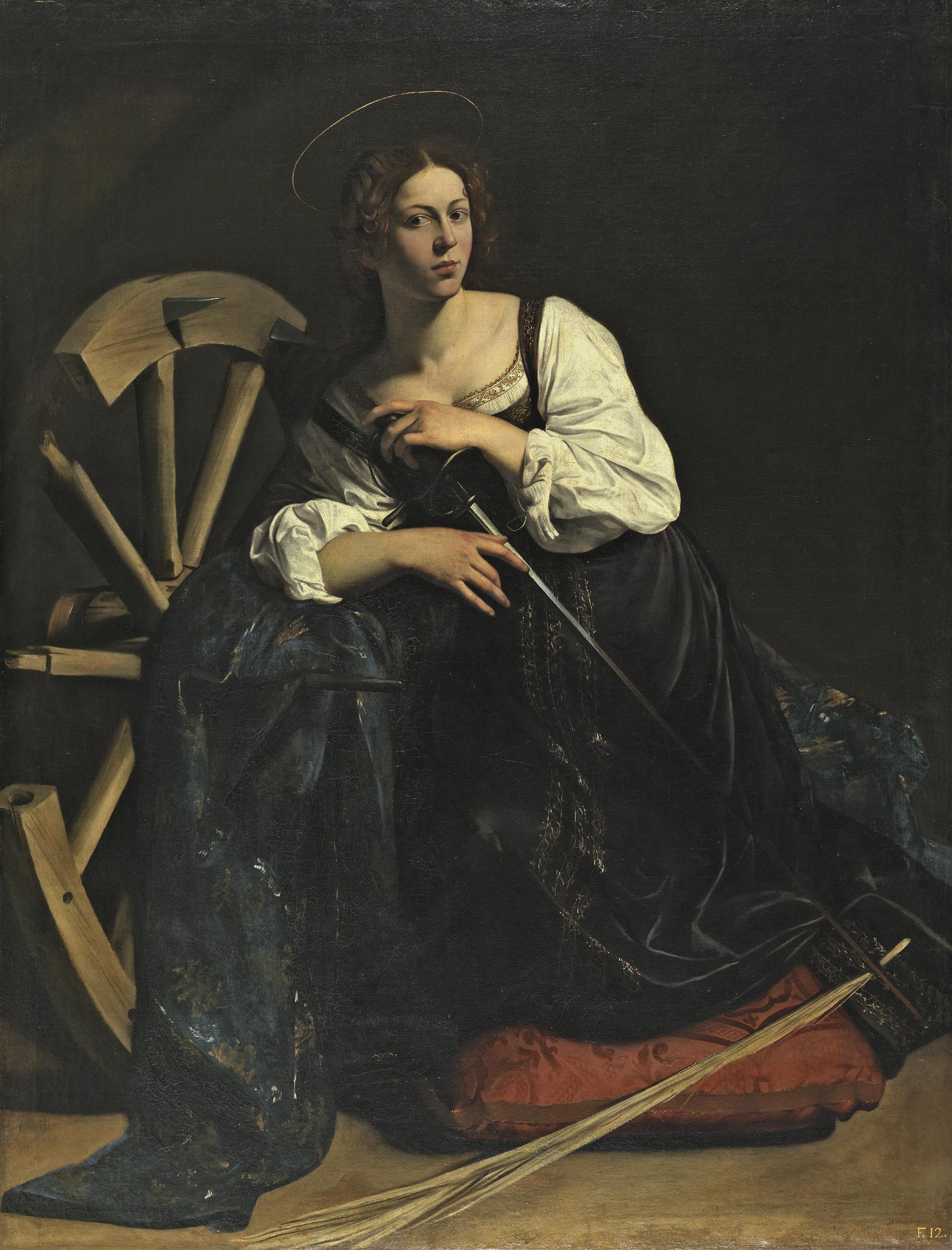 Fillide Melandroni como Santa Catalina