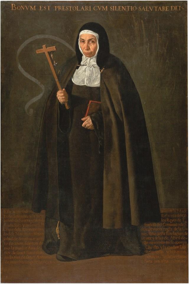 La venerable madre Jerónima de la Fuente 1620. Óleo sobre lienzo, 160 x 110 cm.