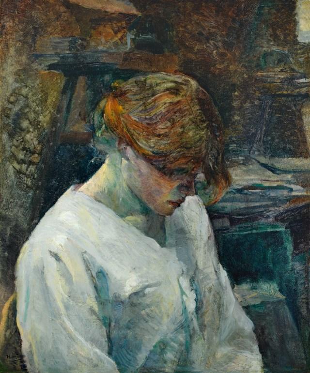 TOULOUSE-LAUTREC, Henri de_La pelirroja con blusa blanca, 1889_774 (1978.50) https://bit.ly/2tU0H5n