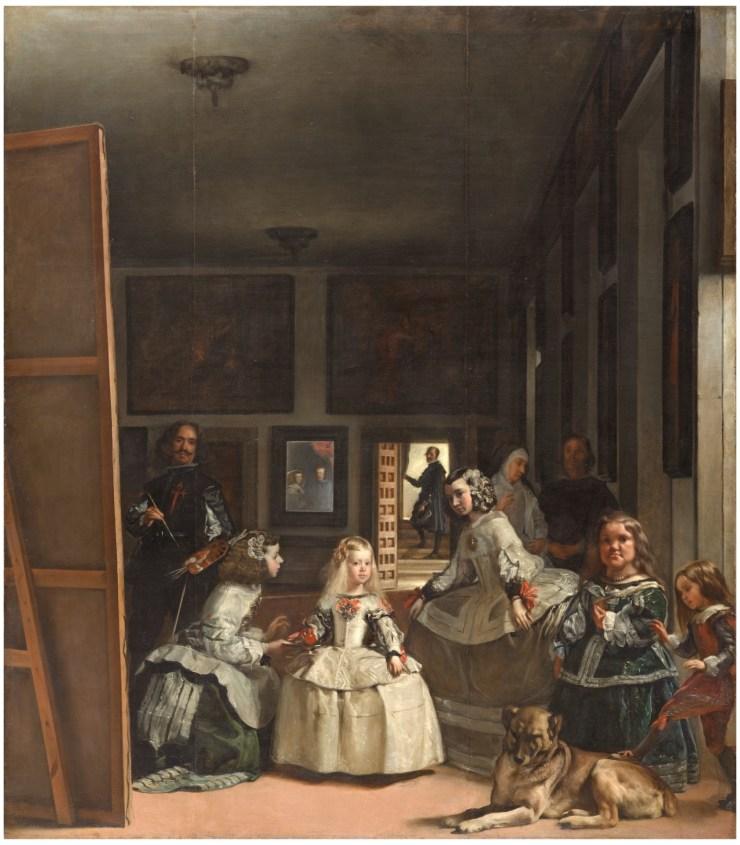 Las meninas 1656. Óleo sobre lienzo, 320,5 x 281,5 cm. https://bit.ly/1ILvBPp