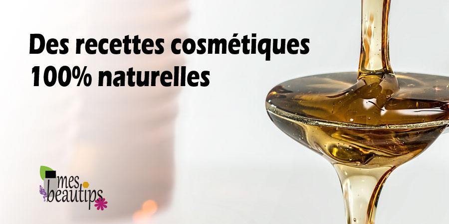Soins cosmétique maison naturel bio fait maison