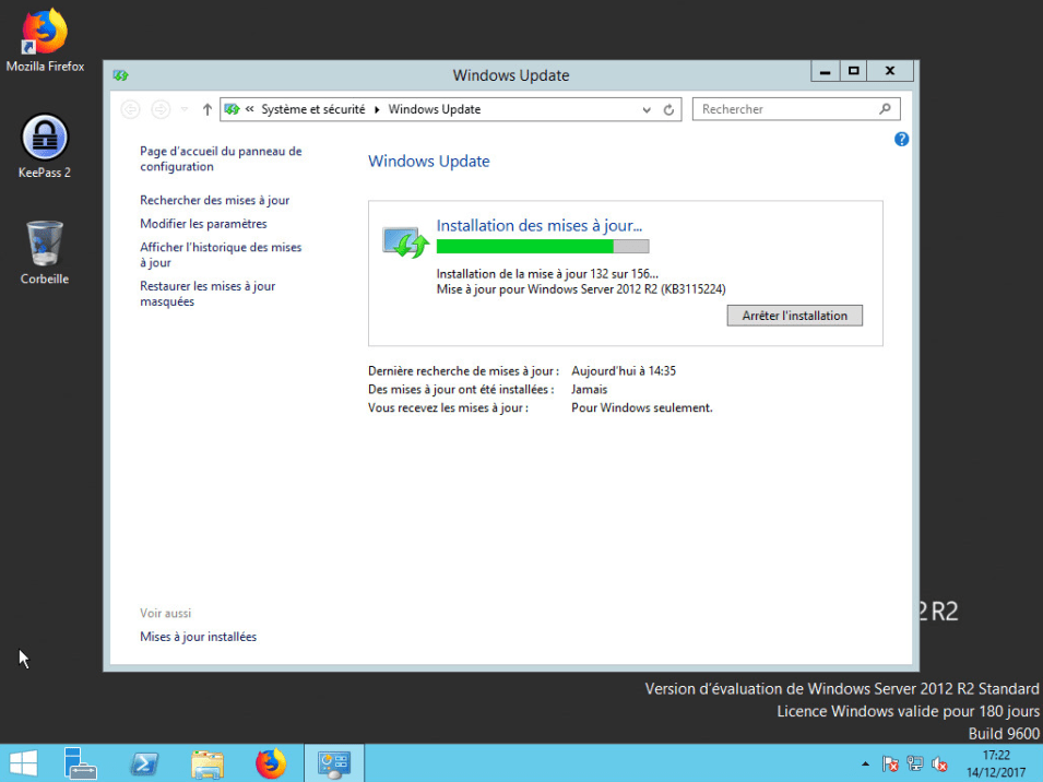 Machine virtuelle Windows serveur 2012R2 + Active directory + Exchange 2013