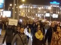 Numărul tinerilor care au manifestat pe marile bulevarde ale Sibiului a fost aseară de aproximativ 3.000 | foto: Tudor St. POPA / Facebook