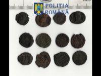 Monede antice  recuperate de către polițiștii sibieni
