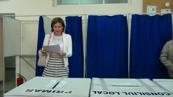 Carmen Iohannis la vot