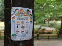 Panouri cu mesaje ecologice pentru copii în Parcul Sub Arini