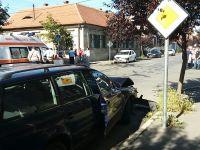Tamponare spectaculoasă la intersecția străzilor Odessa și Tudor Vladimirescu   FOTO